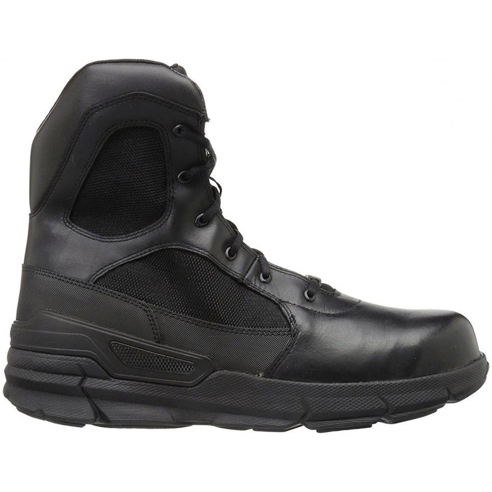 Bates Charge Composite Toe Side Zip Black Mens Leather Military Tactical Boots
