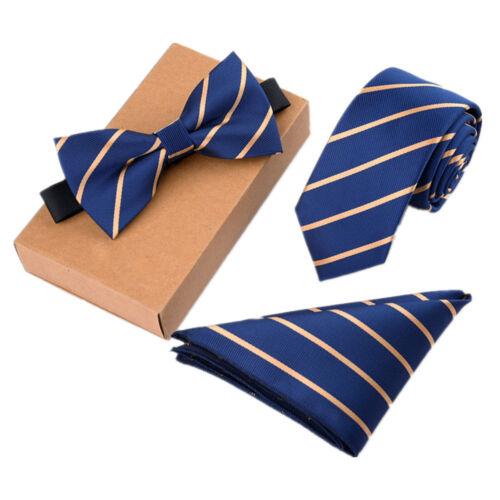 32 motifs homme liens Business Mariage Cravate /& Nœud Papillon /& Hanky Tie Set Cadeau