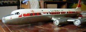 "Model Plane DC-7C Swiss Air c.1960 by Raise Up Rotterdam 1:43 31"" x 27.5"" 6.5kg"