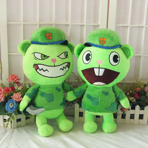 Happy Tree Friends Stuffed Doll HTF Flippy Fliqpy Anime Plush Toy 40cm//15.7/""