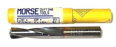 """Morse 19//64/"""" Solid Carbide Drill Stubby Bit TICN Coated USA Made"""