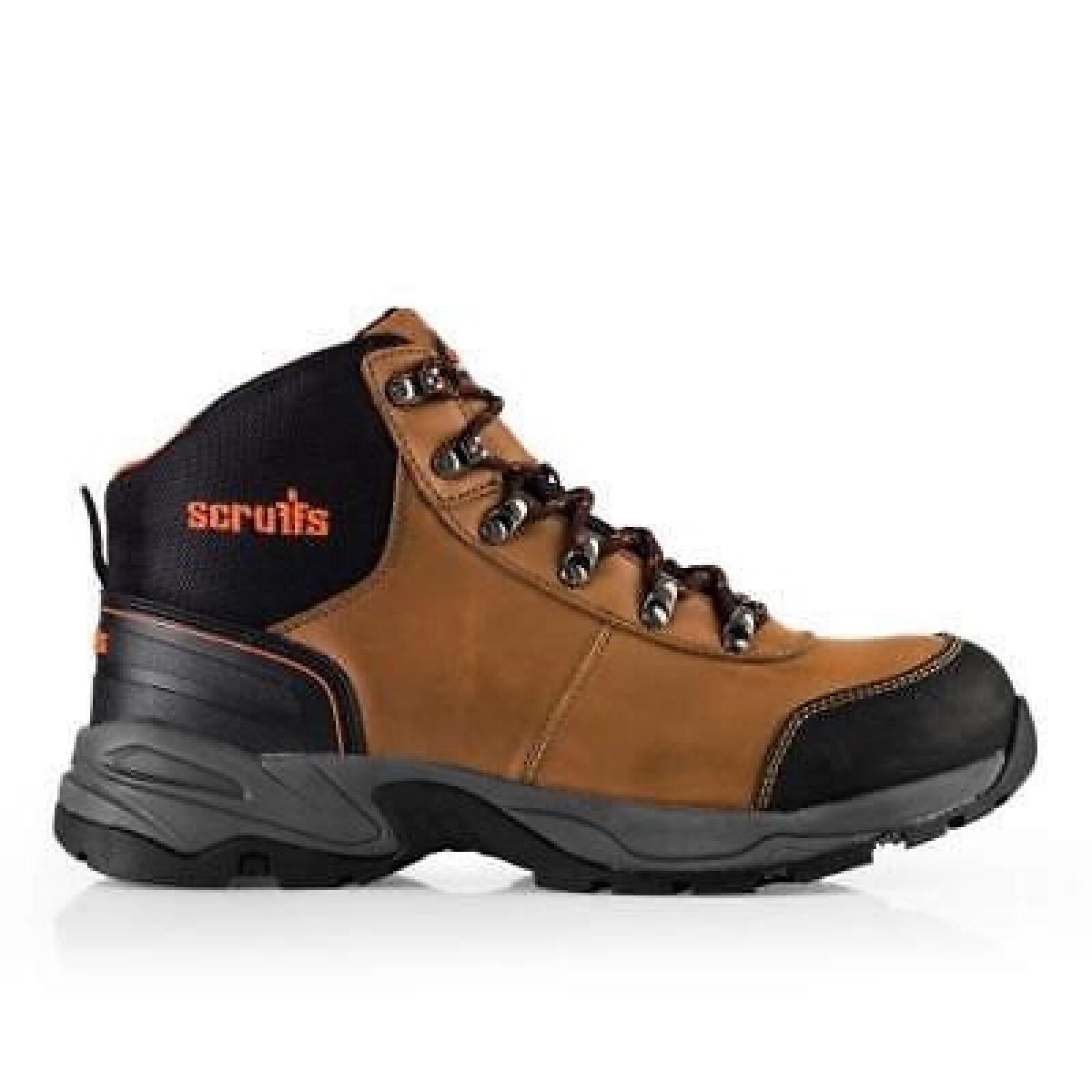Scruffs anti-graffi Assault Hiker Acciaio Toe/intersuola anti-graffi Scruffs sulla sicurezza stivale marrone TG 7-12 5a0f5a