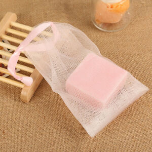 Bathroom Hardware Bathroom Fixtures 10pcs Soap Sack Saver Pouch Drawstring Holder Bags For Making Bubbles