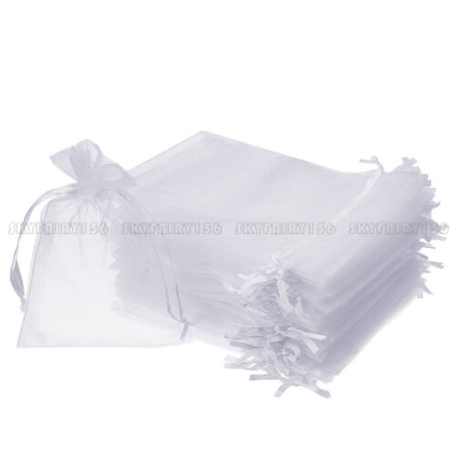 100x 200x Jewelry Candy Organza Packing Pouch Bag Wedding Party Favor Gift Bags
