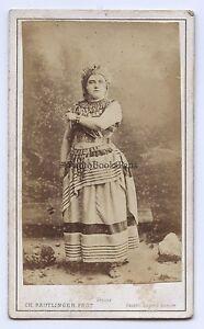 Maria Sasse Soprano Belga Belgium Opera CDV Reutlinger Vintage Ca 1870