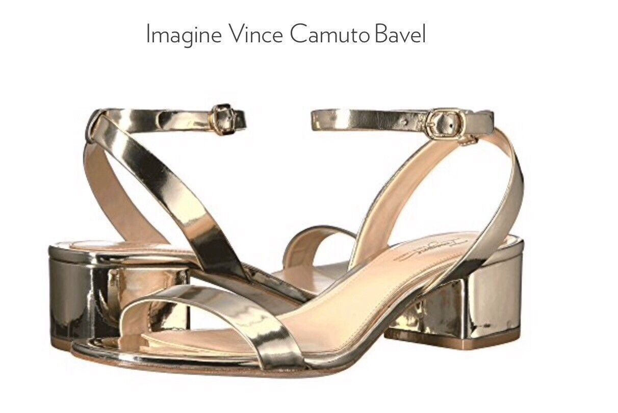 Imagine By Vince Camuto Bavel Soft-gold Ankle Strap  Sandals. Sz.8M  49.99