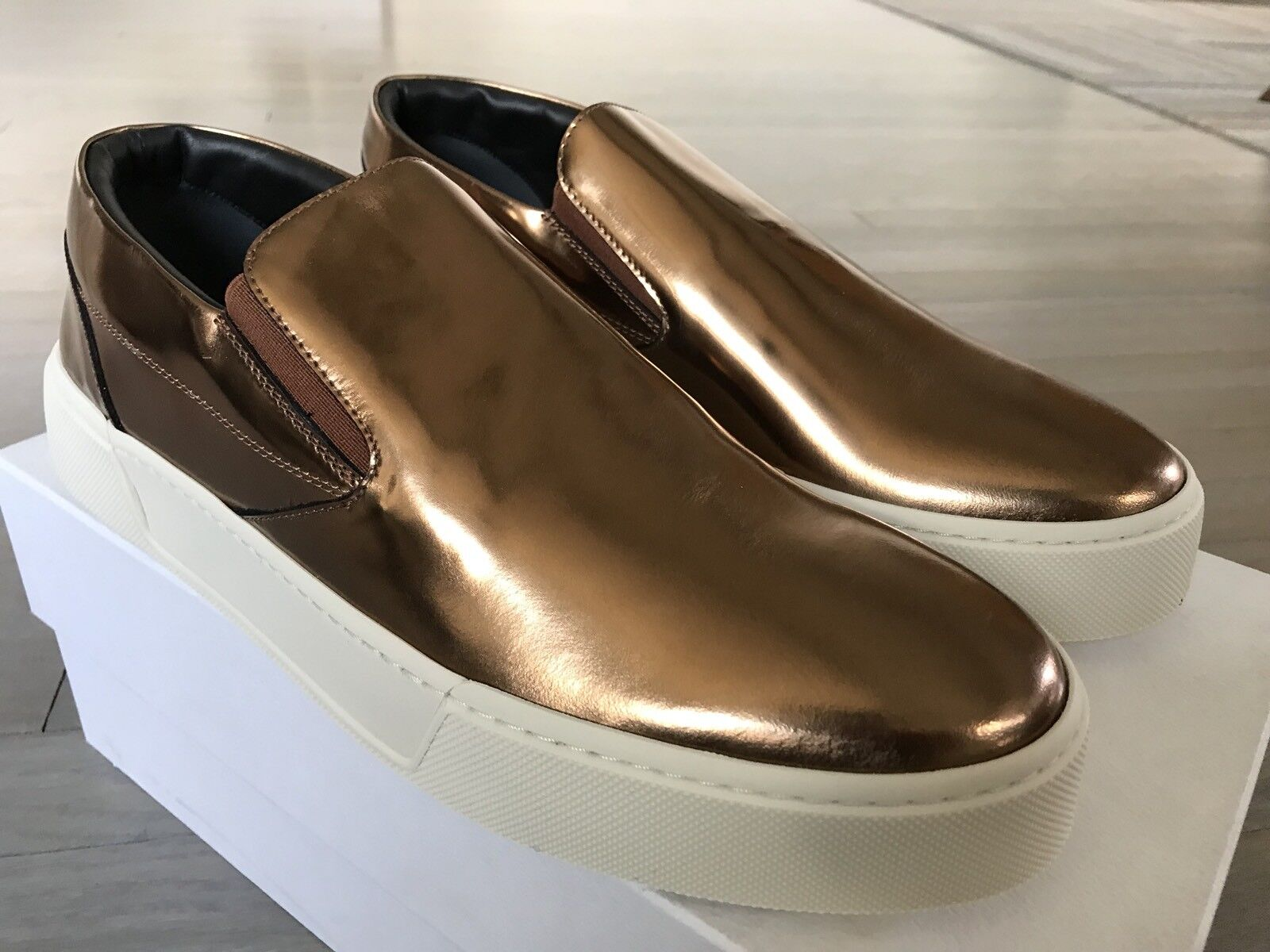 2f1f5dbb48 615 Balenciaga Copper Slip Ons Size US 15, Made in Leather ...
