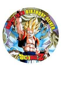 Dragon Ball Z Personalised Birthday Cake Topper Edible Icing Sheet