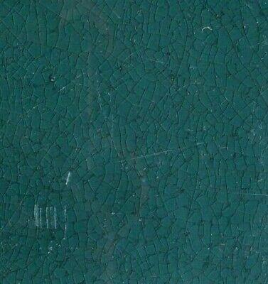 Bottle green Original period antique field tile 6x6 Art Nouveau Majolica