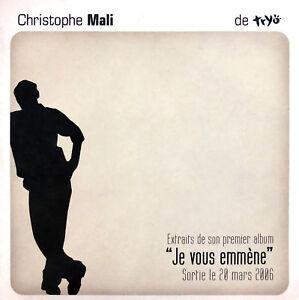 Christophe-Mali-CD-EP-Extraits-de-Son-Premier-Album-034-Je-Vous-Emmene-034-Promo