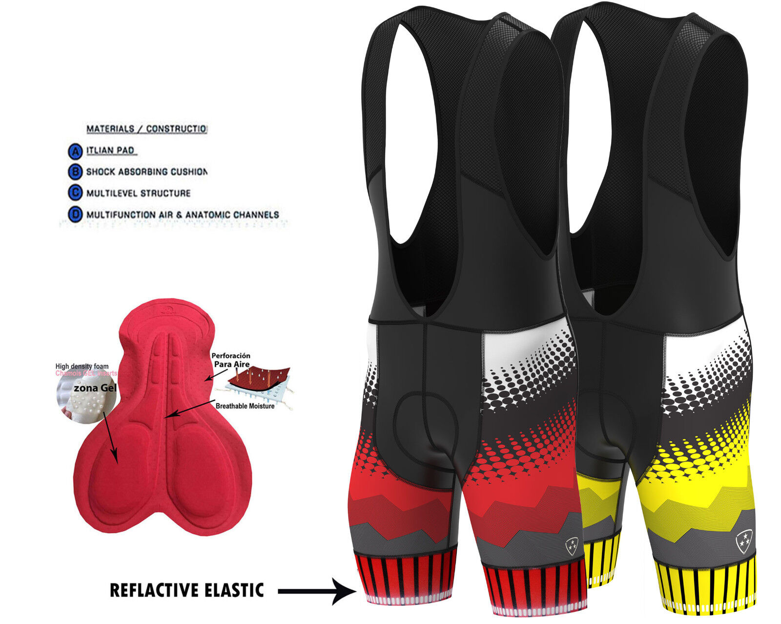 Women/'s Cyclisme Équitation 3D GEL rembourré Shorts Bicycle Wear Bike Collant Lycra Pantalon