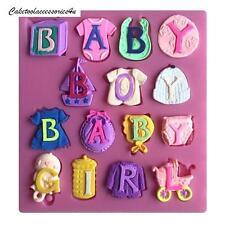Baby Boy E Baby Girl Lettere Decorazione Torte Stampo Ripieno Cioccolato Glassa