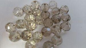 GéNéReuse 50 Pcs 8 Mm Cristal à Facettes Perles Rondes-gris/champagne-a3613-afficher Le Titre D'origine Saveur Aromatique