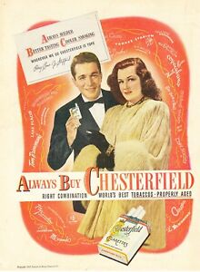 1947-Perry-Como-Jo-Stafford-photo-Chesterfield-Cigarettes-vintage-print-ad