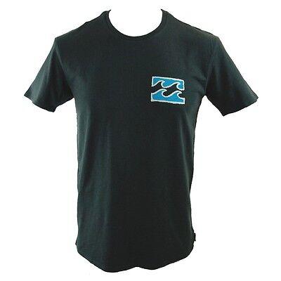 BILLABONG Mens PSYCHO WAVE Black Slim Fit T Shirt Top Tee (S M) NEW