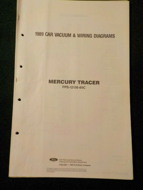 1989 Mercury Tracer Electrical Schematic Wiring Diagram