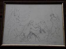 André DERAIN - Lithographie lithograph signée vers 1940 / 1950 Figures nues *