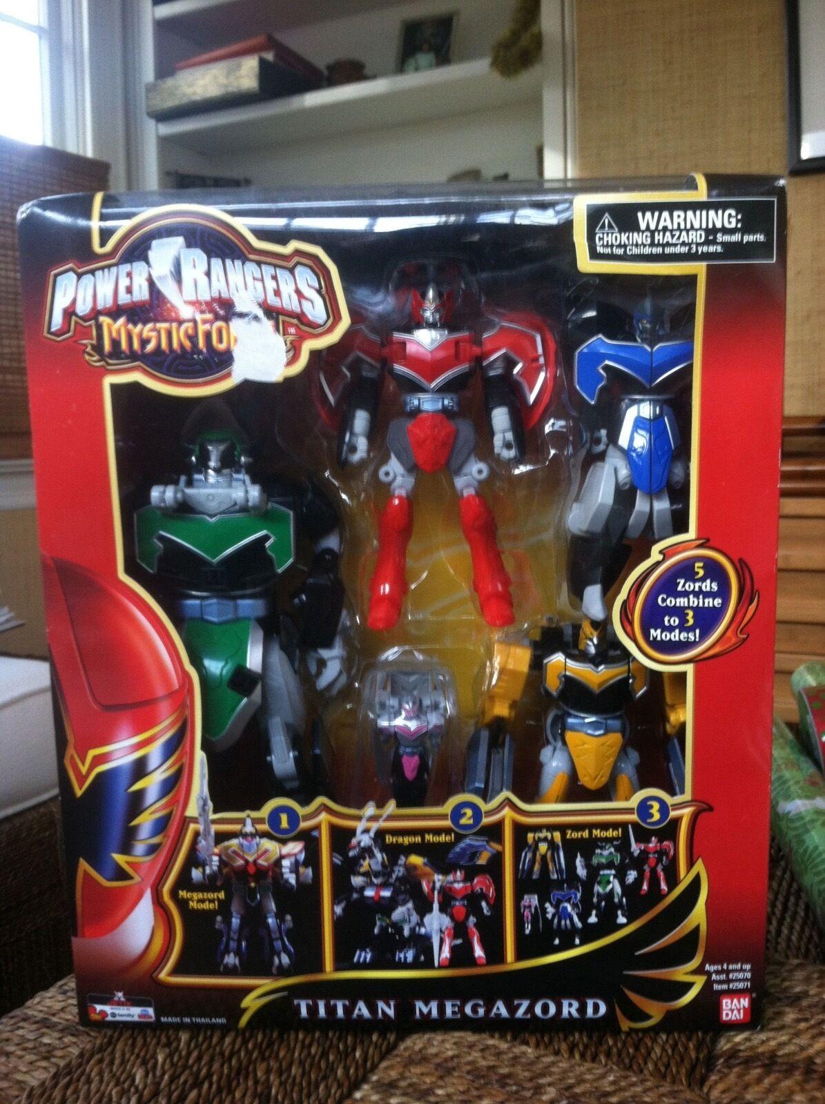 Power Rangers Mystic Force Titan Megazord 5 Zords Combine Bandai - New In Box
