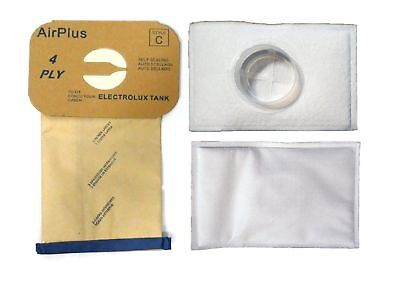 Canister Style C HEPA ALLERGY Vacuum Bag for Aerus Electrolux 12 Bags 2 Filters