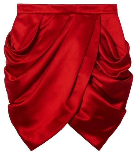 NWT Balmain x H&M Red Tulip Skirt
