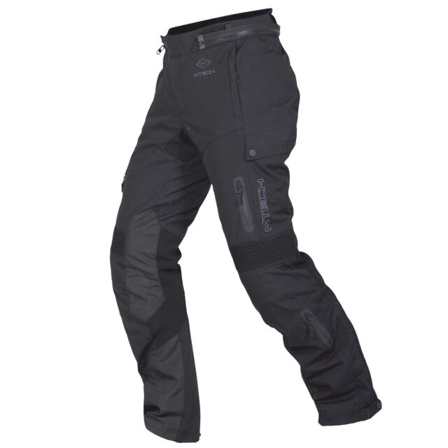 MTech Righel Men's Black Waterproof Motorcycle Protective Pants Cordura
