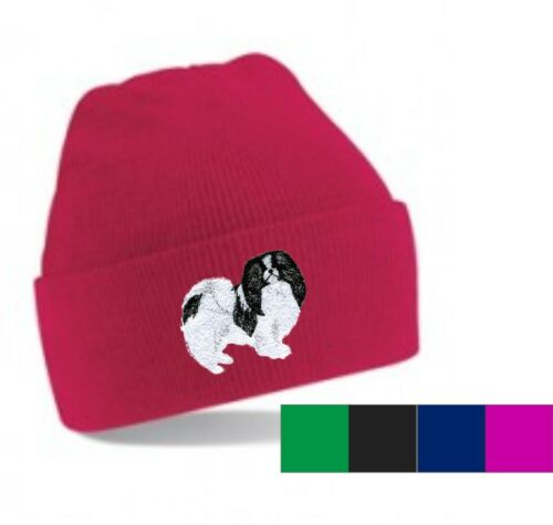 Japanese Chin Beanie Hat Perfect Gift  Embroidered by Dogmania