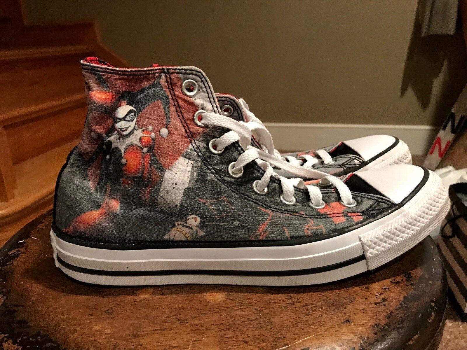 c7827091d562 Converse All Star Harley Quinn Joker High Top Shoes Men 8 Women 10 ...