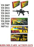 Toy Kids Td Military Assault Machine Guns With Vibration Sound Flashing Lights