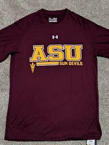 4495008b Details about Under Armour Arizona State (ASU) Sun Devils Tech T-Shirt,  Men's   Maroon, Small