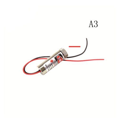 Line Cross Laser Module Head Glass Lens Focusable ^P 650nm 5mW Red Point