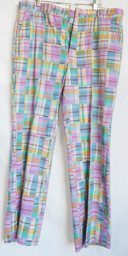 1980's Preppy Madras Trousers
