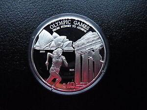 CréAtif Îles Salomon Jeux Olympiques 2004 Athènes, Coureur De Sydney à Athènes 10 Dollars Pp-afficher Le Titre D'origine Adopter Une Technologie De Pointe