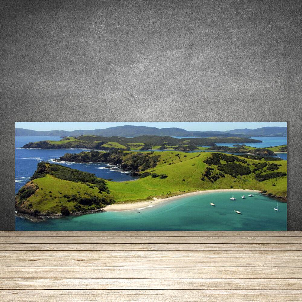 Crédence de cuisine en verre Panneau 125x50 Paysage Forêt Plage Mer