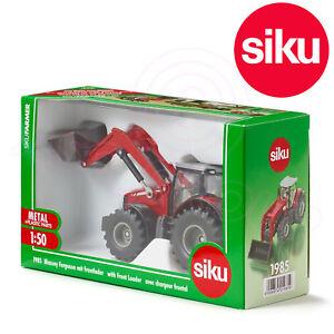 SIKU-N-1985-1-50-Farmer-Serie-Massey-Ferguson-MF-8690-Tracteur-amp-Chargeur-Frontal