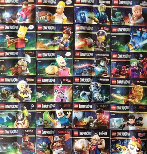 LEGO le dimensioni-libretti di istruzioni-Dr Who ritorno al futuro Goonies ecc.