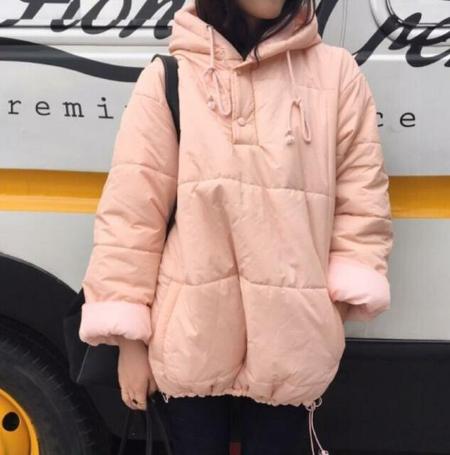 Women/Lady Loose Hooded Puffer Jacket Coat Padded Quilt Winter Warm Outerwear