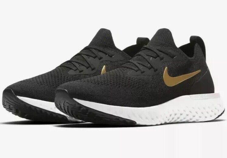 Nike donna 65533;s SZ 9.5 Reaction Epic Flyed  Running scarpe nero  oro  bianca AQ0070 -013  negozio online outlet