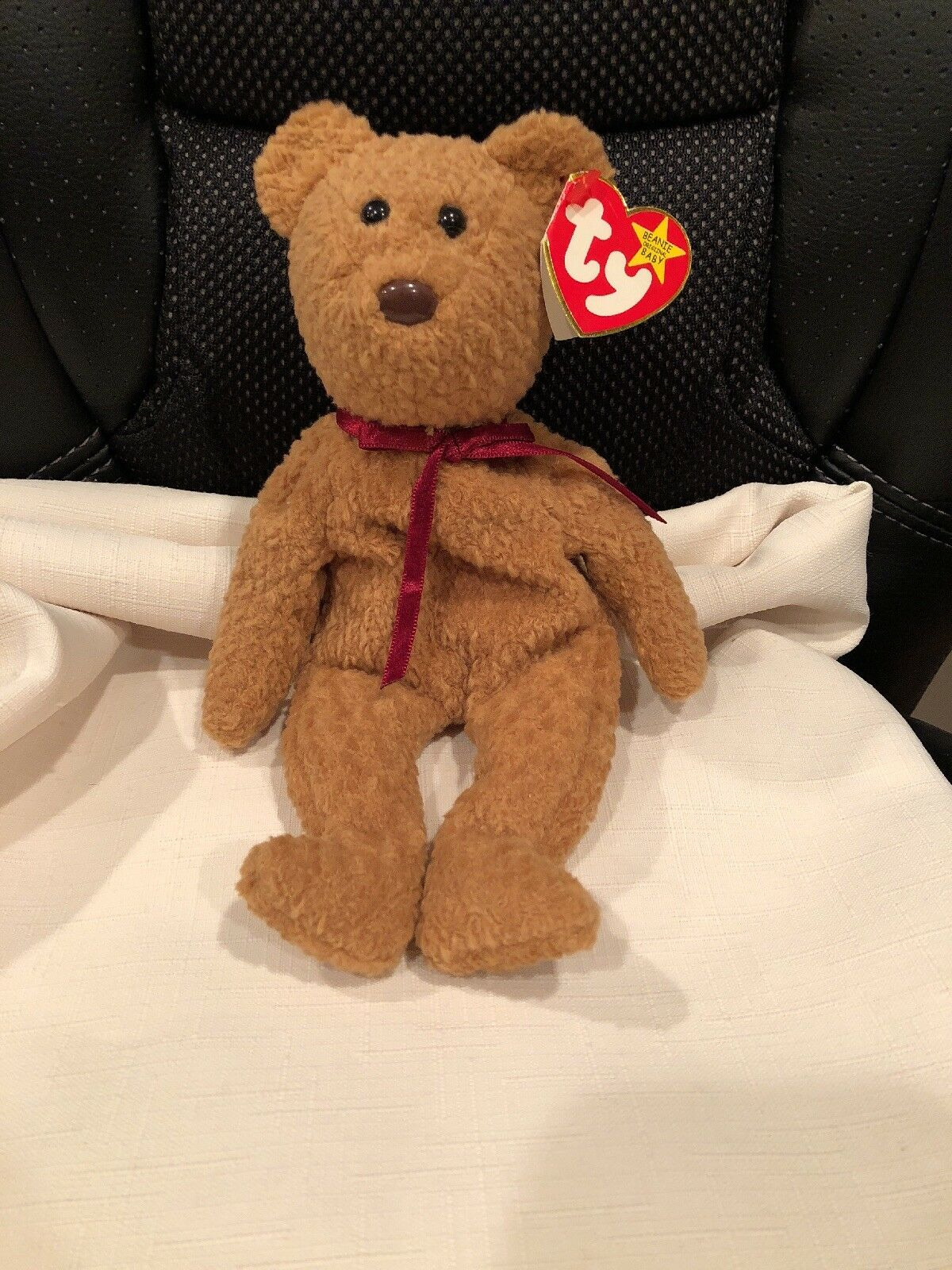 CURLY TY Beanie Baby. Retired and Very Rare  Many errors (14 found)