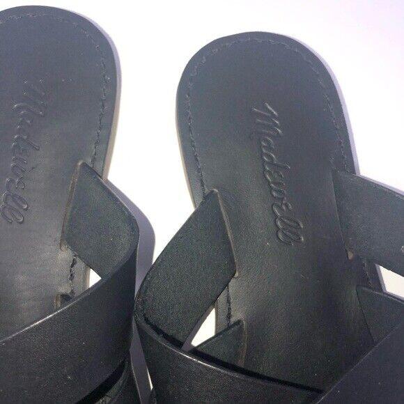 Madewell Boardwalk Woven Black Slide Women Shoe S… - image 2
