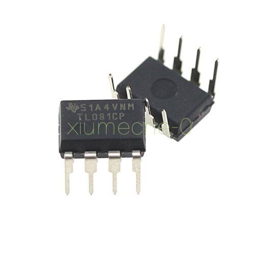 10Pcs nuevo TL081CP TL081 TI Ic Jfet amplificadores operacionales de entrada DIP-8
