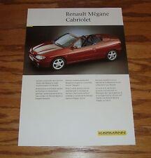 Original 1999 Karmann Renault Megane Cabriolet Fact Sales Sheet Brochure 99