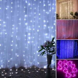 300LED-Luci-Pendenti-Illuminazione-3x3m-LED-Catena-Luci-Innen-amp-ausen-Luce-IP42