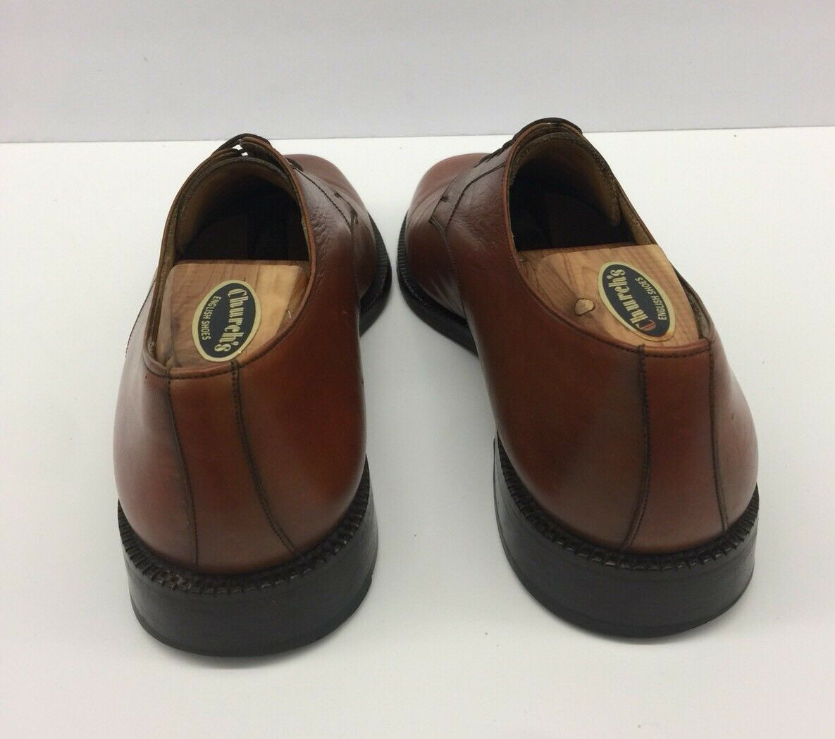 CHURCH'S braun Tan Tan Tan Plain Toe Loafers Dress schuhe Mens Größe 9.5 W wide 695409