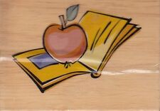"""teachers desk greenbriar Wood Mounted Rubber Stamp  2 1/2 x 3""""  Free Shipping"""