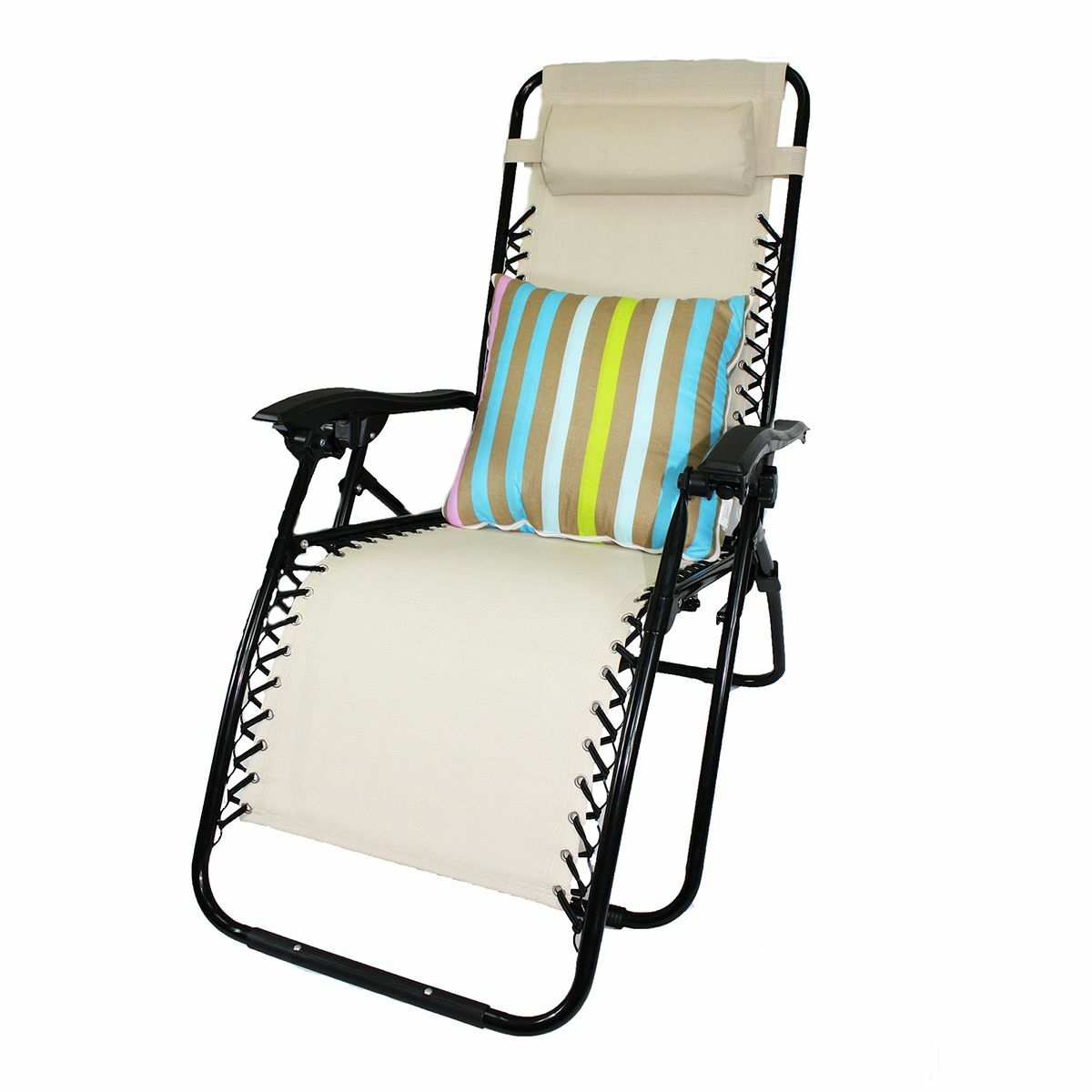 Lounge Chair Recliner Patio Oudoor Chair 2in1 Pillow And