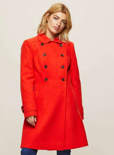 Miss Selfridge Red Double Breasted Coat Size UK 10 rrp £59.00   SA171 AD 01
