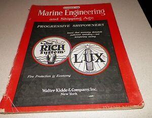 November 1926 Marine Engineering And Shipping Age Magazine Progressive Shipowner Be Novel In Design Maritime Price Guides & Publications Maritime