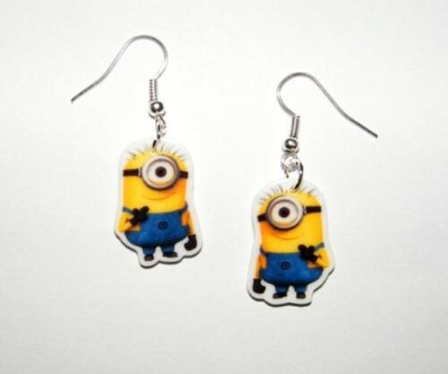 Despicable Me One Eyed Minion Earrings Gru, Margo, Edith, Agnes
