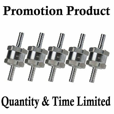 "5pc 1//4/"" One Way Fuel Non Return Check Valve Petrol Diesel Oil Water Promotion"