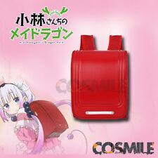 Kobayashi-san Chi no Maid Dragon Kanna Cosplay Red Backpack Japanese Pupil Sa